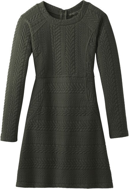 Prana W's Macee Dress Dark Olive Heather